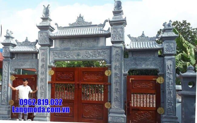 cổng chùa đẹp bằng đá