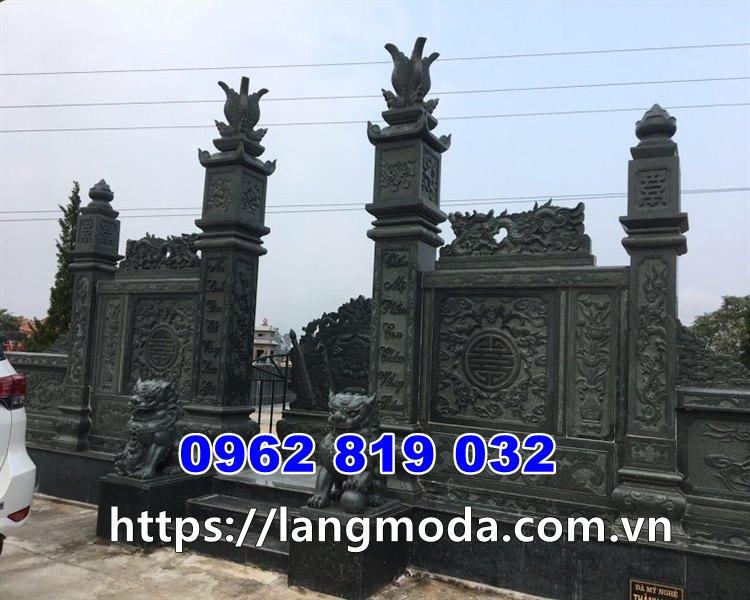 Cổng lăng mộ bằng đá xanh rêu, cổng lăng mộ bằng đá