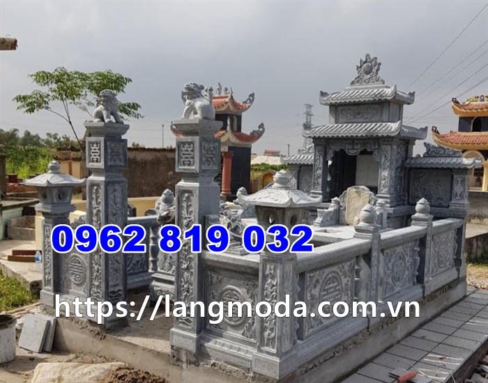 Khu lăng mộ đôi đẹp đơn giản tại Quảng Ninh