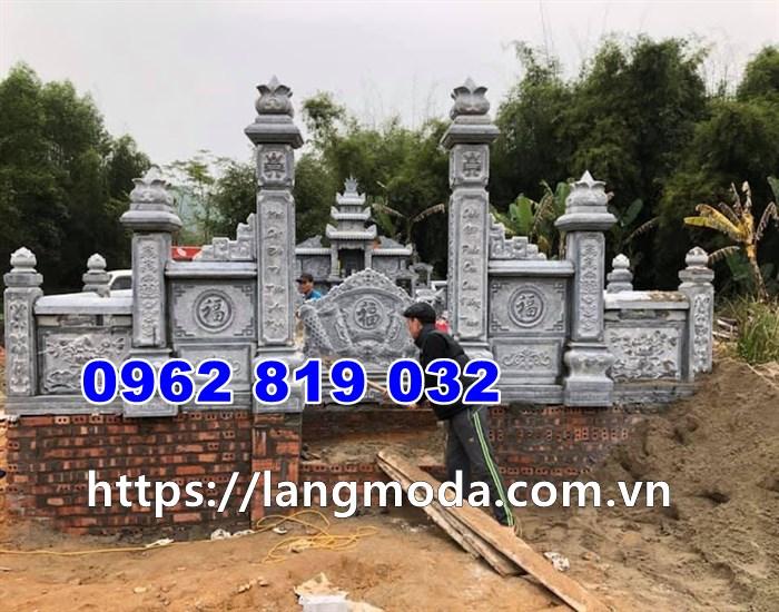 Mẫu khu lăng mộ gia đình bằng đá tại thái bình