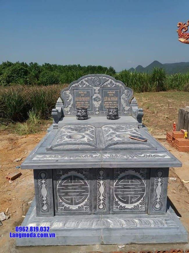 mẫu mộ đôi bằng đá xanh thanh hóa