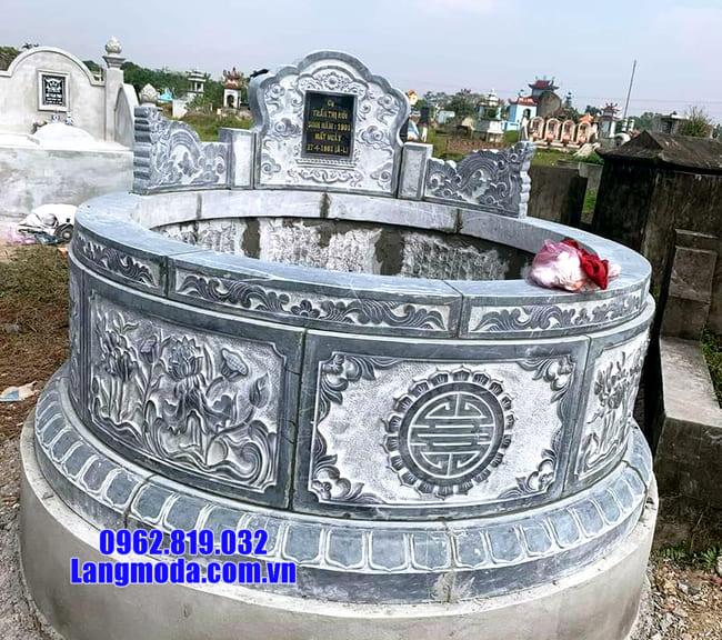 mẫu mộ tròn bằng đá xanh thanh hóa đẹp nhất