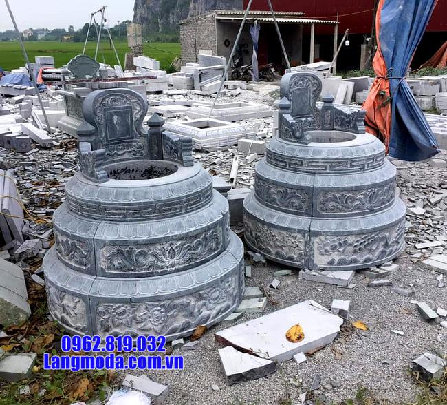 mẫu mộ tròn bằng đá xanh thanh hóa đẹp