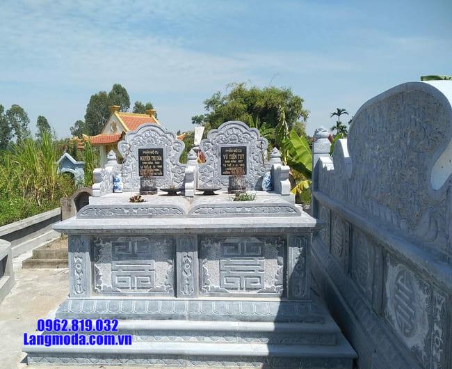 mộ đôi bằng đá xanh thanh hóa đẹp