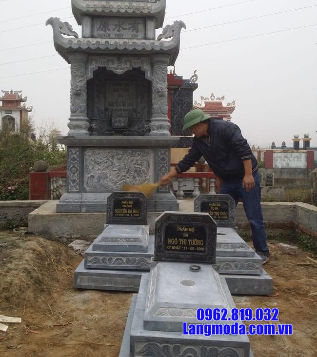 mộ tam cấp bằng đá xanh thanh hóa