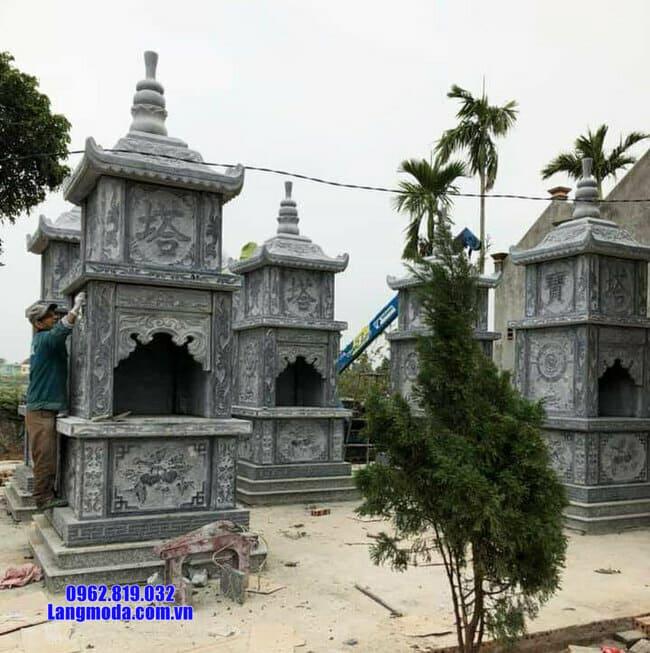 mộ tháp được làm bằng đá xanh Thanh Hóa đẹp nhất