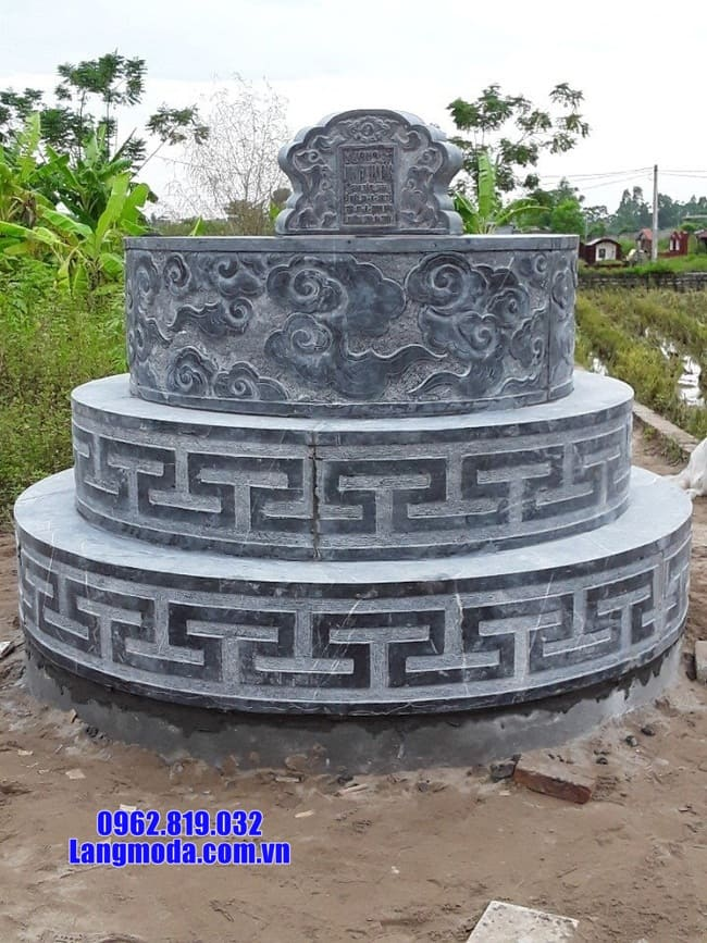 mộ tròn bằng đá xanh thanh hóa đẹp