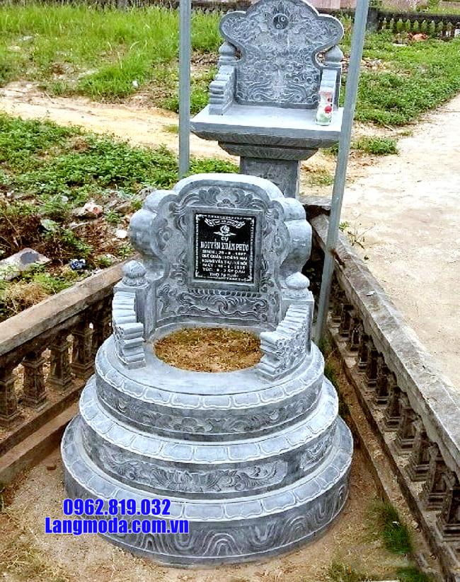 mộ tròn bằng đá xanh thanh hóa