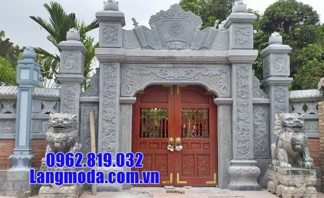 cổng nhà thờ họ bằng đá đẹp nhất lắp đặt tại hà nội
