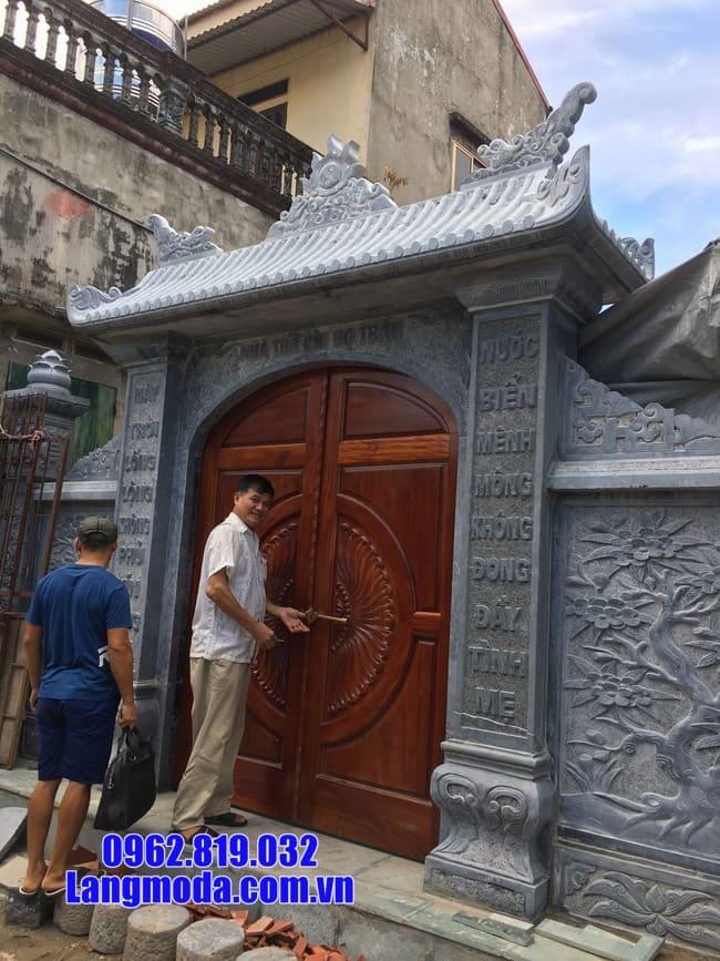 mẫu cổng nhà thờ họ làm bằng đá đẹp nhất lắp đặt tại hà nội