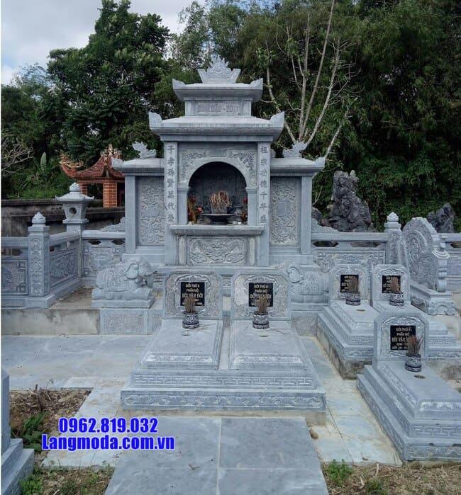 mẫu lăng mộ đá đẹp tại Hòa Bình