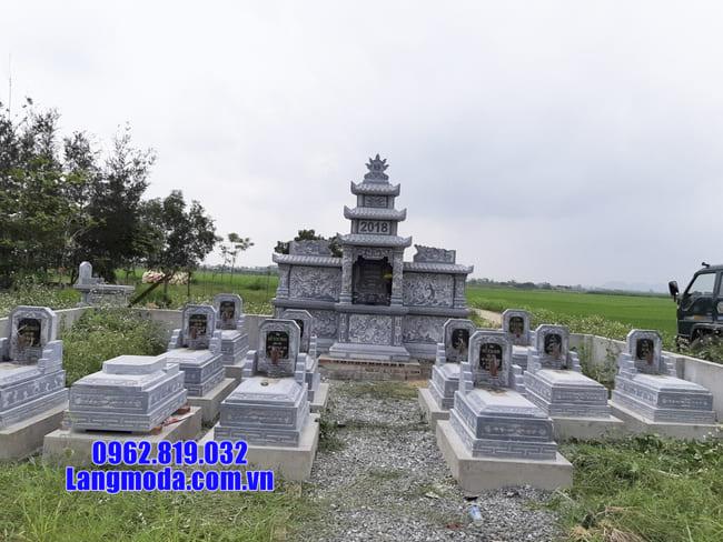 mẫu lăng mộ tại Hòa Bình
