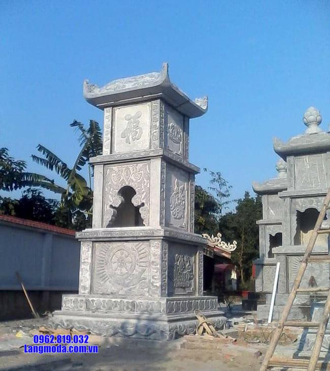mẫu mộ đá hình tháp tại Quảng Ngãi đẹp nhất