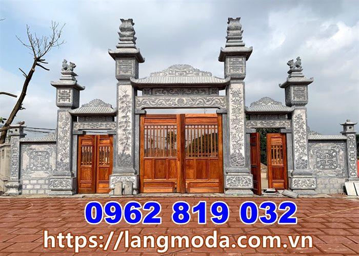 Cổng đá đẹp Quảng Ninh - Mẫu cổng nhà thờ họ đình làng tại Quảng Ninh