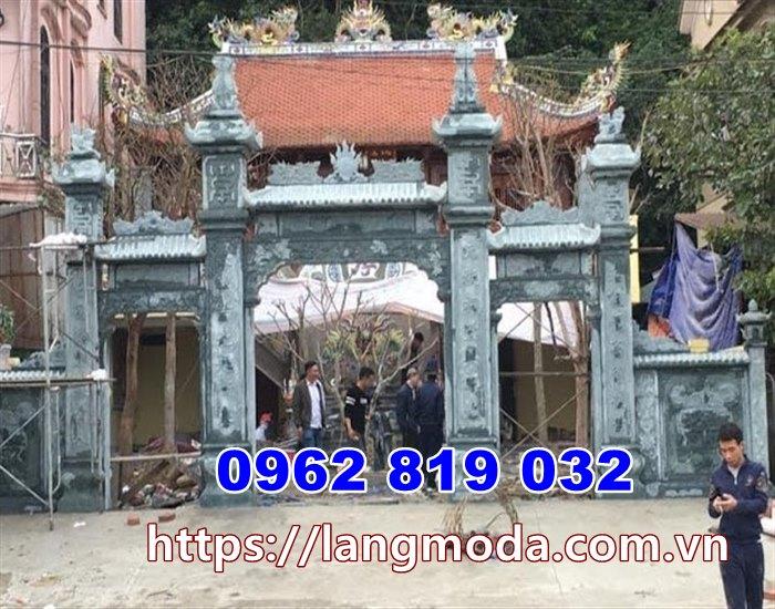Cổng đinh làng bằng đá tại Hưng Yên - Cổng nhà thờ họ tại Hưng Yên