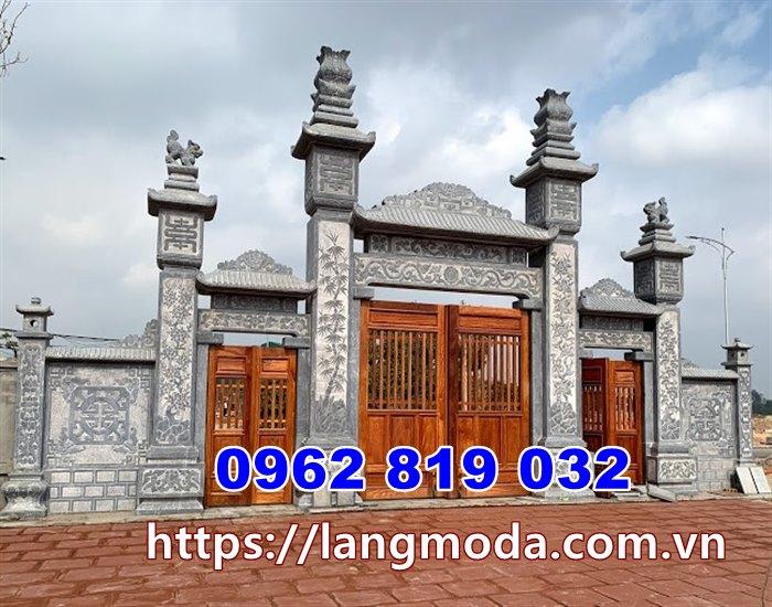 Cổng nhà thờ họ cổng đình làng tại Vĩnh Phúc - Cổng đá Vĩnh Phúc