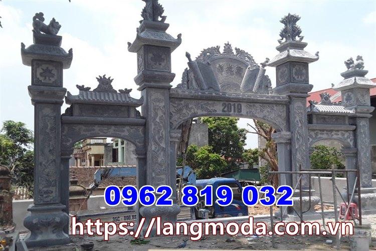 Mẫu cổng nhà thờ họ bằng đá tại Hưng Yên - Cổng đình bằng đá tại hưng Yên