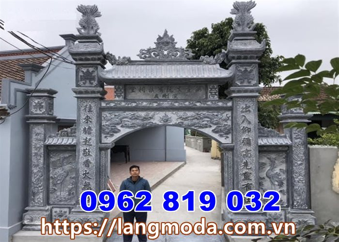 Xây cổng nhà thờ họ từ đường tại hà Tây - Hà Nội