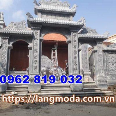 Cổng đá đẹp tại Quảng Ninh - Mẫu cổng nhà thờ họ đình làng tại quảng Ninh