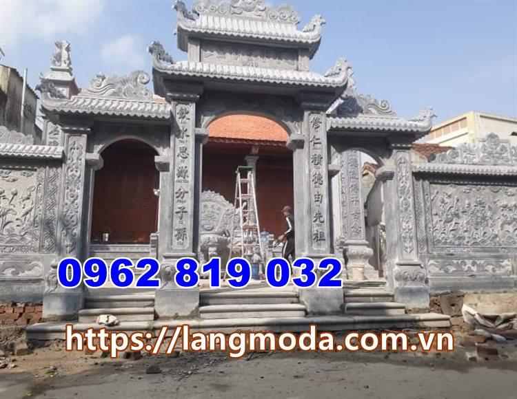 Cổng đá đẹp tại Quảng Ninh - Mẫu cổng nhà thờ họ đình làng tại quảng Ninh - Cổng nhà thờ họ đẹp tại quảng Ninh