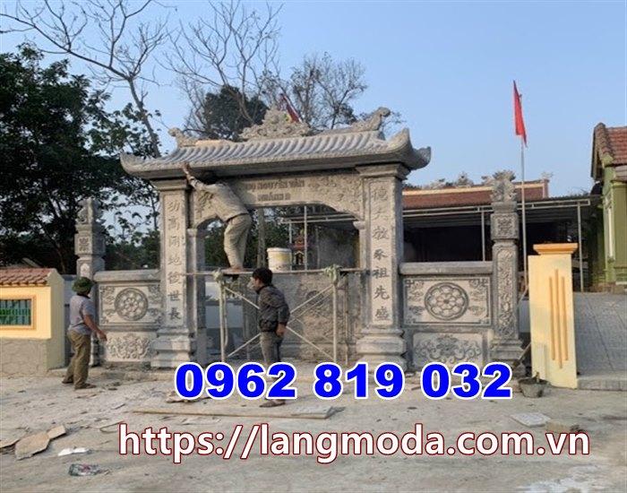 Cổng nhà thờ họ giá rẻ tại hưng Yên-Cổng đá hưng Yên