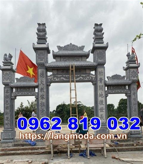 Mẫu cổng đình làng đẹp bằng đá tại Quảng Ninh, Cổng nhà thờ họ đẹp tại Quảng Ninh
