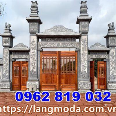 Mẫu cổng nhà thờ họ đẹp có mái tại Bắc Ninh
