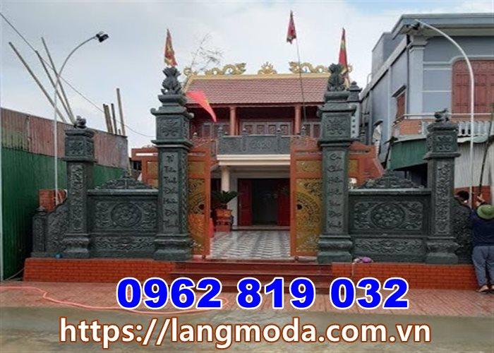 Mẫu cổng nhà thờ họ đơn giản tại Hà Tây-Hà Nội