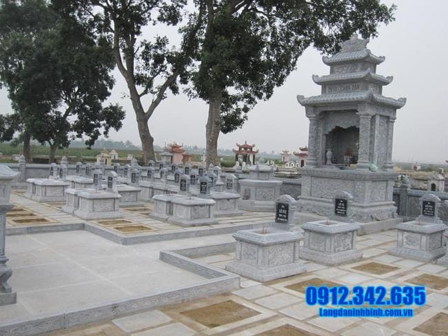 mẫu khu lăng mộ bằng đá đẹp nhất tại Đồng Tháp