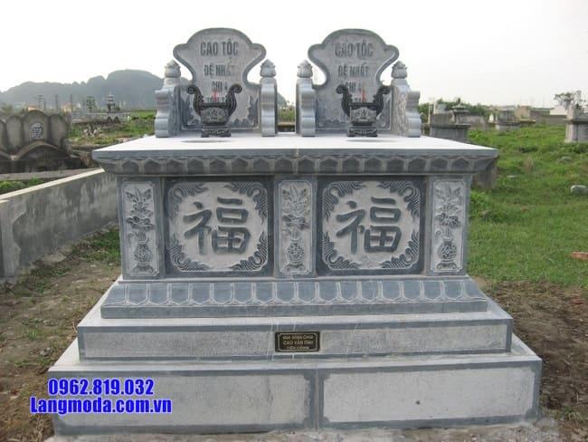 mẫu mộ đôi bằng đá đẹp tại Bến Tre