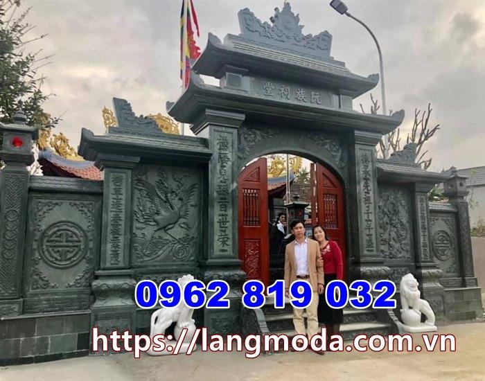 Mẫu cổng nhà thờ họ đẹp bằng đá xanh rêu tại Vĩnh phúc - Mẫu cổng đình bằng đá tại Vĩnh Phúc