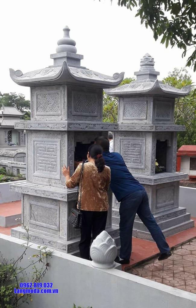 mộ đá hình tháp đẹp tại Bình Phước