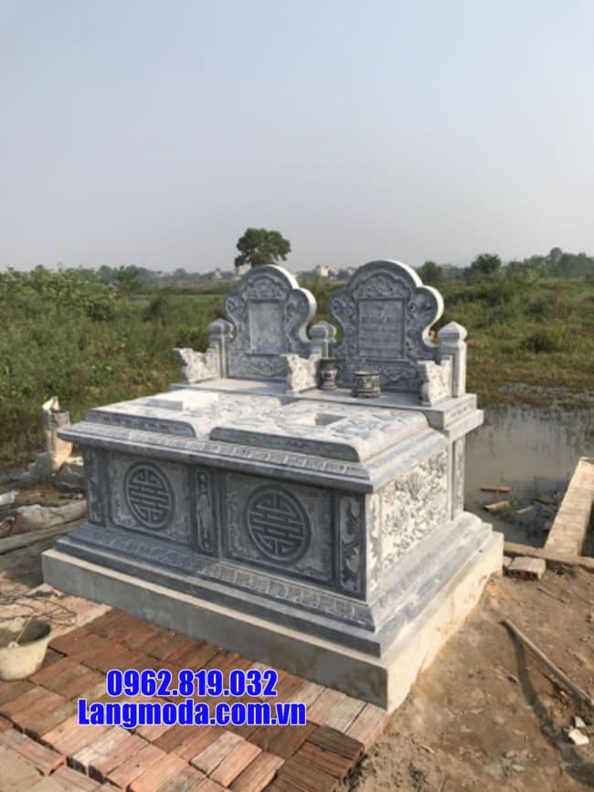 mộ đôi bằng đá đẹp nhất tại Bến Tre