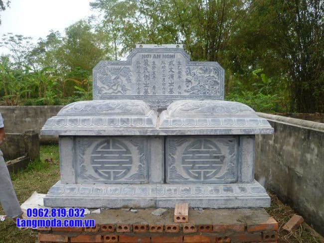 mộ đôi bằng đá tại Bến Tre đẹp