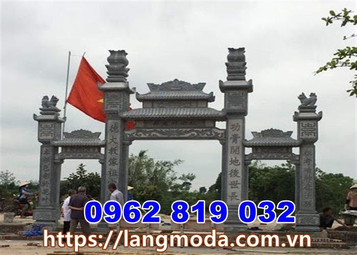 Xây cổng từ đường nhà thờ họ đẹp tại Hưng Yên - Mẫu cổng đá đẹp tại Hưng Yên