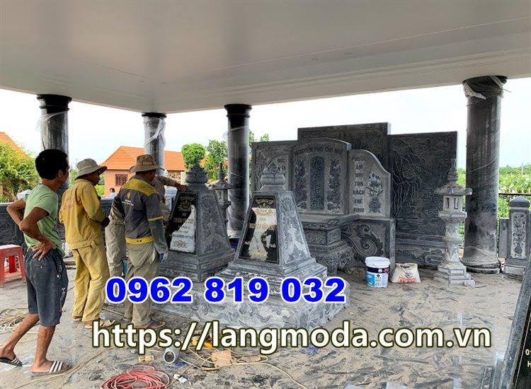 Xây lăng mộ đá xanh đen tại đồng tháp