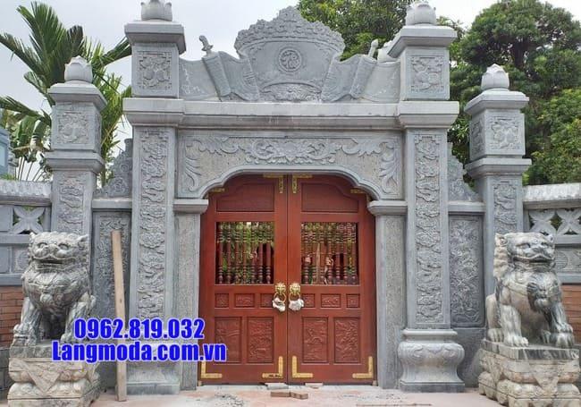 Các mẫu cổng chùa đá tại bạc liêu