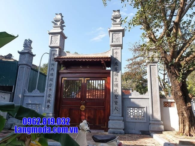 Các mẫu cổng chùa đá tại cà mau