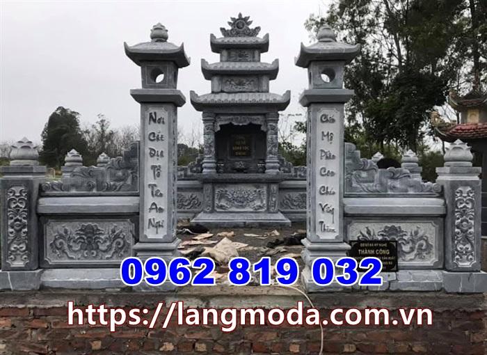 Mẫu mộ đẹp bằng đá để tro cốt tại Hậu Giang