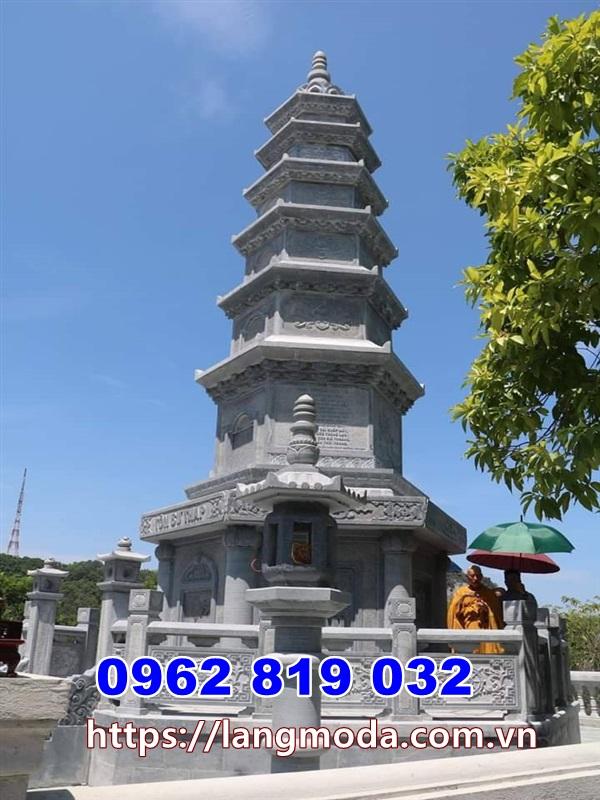 Mẫu mộ đẹp để tro cốt Kiên Giang - Tháp mộ đá để hũ tro cốt Kiên Giang