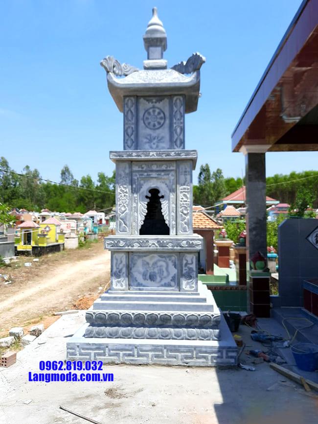 Mẫu tháp mộ đẹp bằng đá để thờ hũ tro cốt tại Quy Nhơn