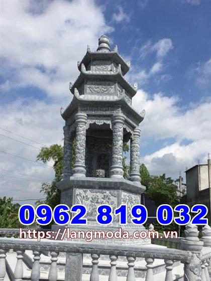 Mẫu tháp mộ đẹp để tro cốt tại Phú Yên bằng đá