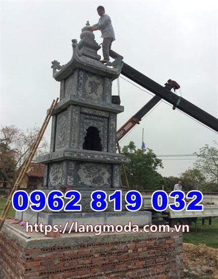 Tháp mộ đá để hũ tro cốt Đồng Tháp - Mẫu mộ đá đẹp thờ cốt Đồng Tháp