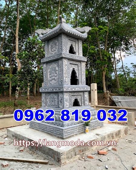 Tháp mộ đẹp để hũ tro cốt bằng đá tại An Giang, mẫu mộ đẹp để tro cốt tại An Giang