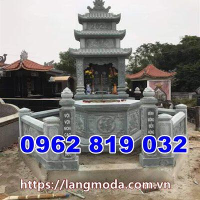 Xây mẫu tháp đá đẹp để tro cốt tại hậu Giang