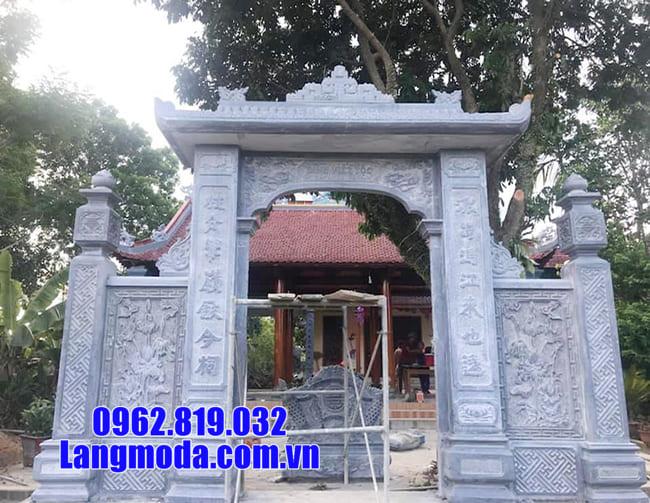 các mẫu cổng nhà thờ họ bằng đá tại Bắc Giang
