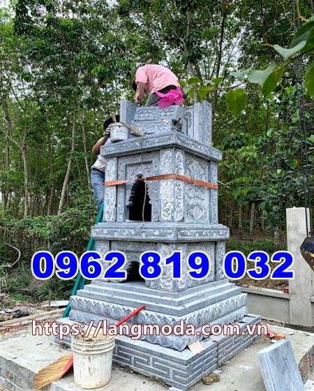 Gần hoàn thiện ngôi tháp mộ đẹp tại Tây Ninh