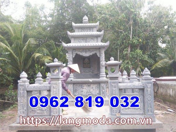 Khu nhà mồ đẹp để hũ tro cốt tại Vĩnh Long- Mẫu tháp mộ để tro cốt đẹp Vĩnh Long