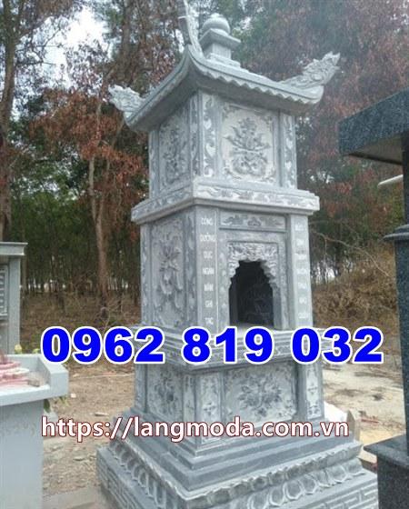 Kiểu tháp mộ đá để hũ tro cốt tại An Giang