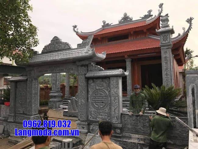 mẫu cổng chùa đá tại cà mau